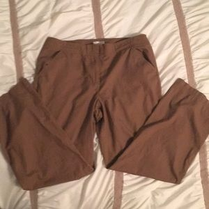 Christopher & Banks Chocolate Cotton Trousers